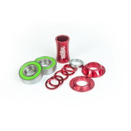 Total BMX Team Mid Bottom Bracket - Red 19mm