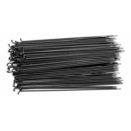 United Supreme Double Butted Spokes 186mm Black(40 Pack)