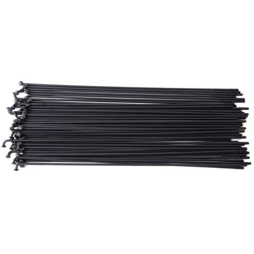 Vocal Double Butted Stainless Steel Spokes - 190mm - Black