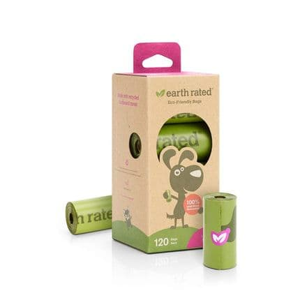 Earth Rated Poo Bags 120 (8 rolls) - Lavender scent