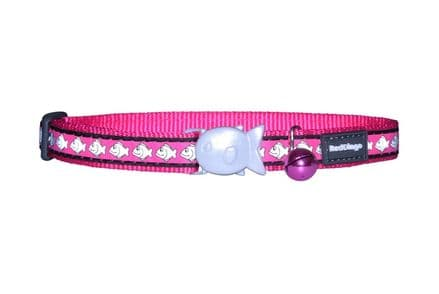 Red Dingo Cat Collar Reflective Hot Pink
