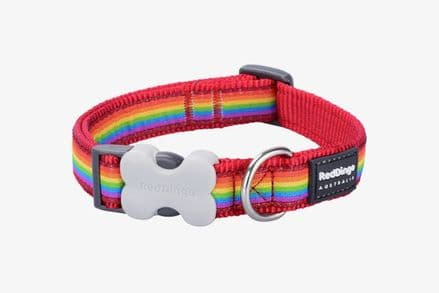 Red Dingo dog collar rainbow