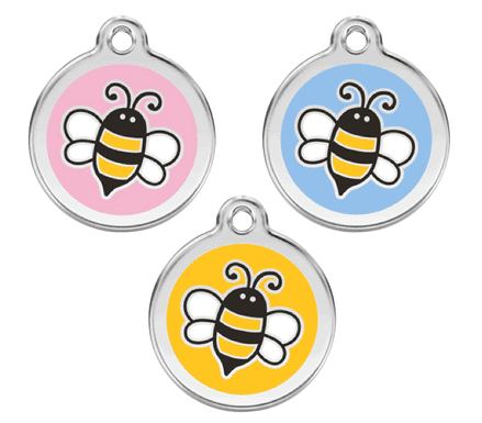 Red Dingo Dog Tag  Bumble Bee Dog Tag