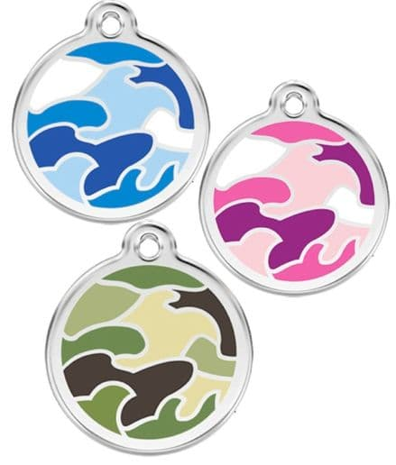 Red Dingo Dog Tag Camouflage