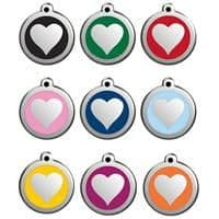 Red Dingo Dog Tag Heart