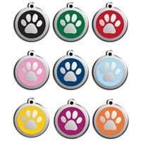 Red Dingo Dog Tag Pawprint