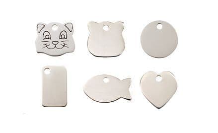Red Dingo Flat Stainless Steel Cat Tags