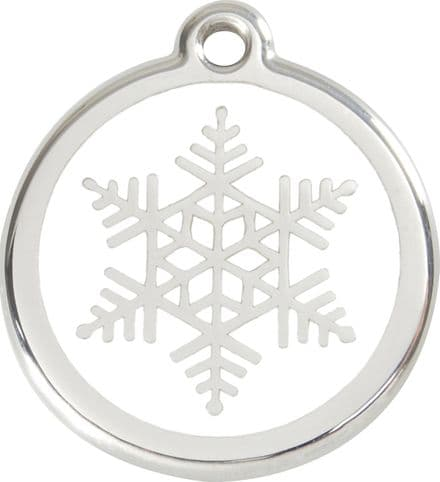 Red Dingo Pet ID Tag Snowflake