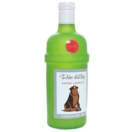 Silly Squeaker Liquor Bottle - To Sit And Stay