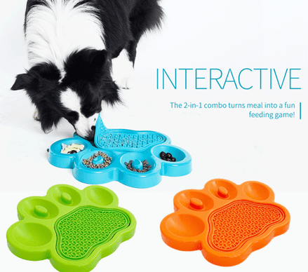 Slow Feeder Dog bowl with Lick Mat