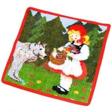 Feiler Children's Fairytales Little Red Riding Hood Wash Cloth - Red 210