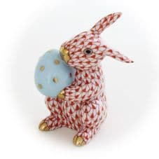 Herend Porcelain Figurine of a Easter Bunny with Egg
