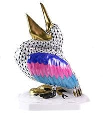 Herend Porcelain Fishnet Figurine of a Pelican 05073