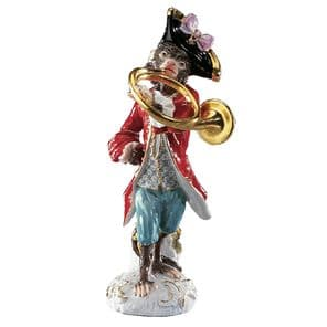 Meissen Monkey Band - Figurine of a French Horn Player