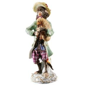 Meissen Monkey Band - Figurine of a Piper