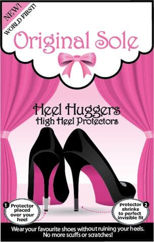 Clear Heel Huggers - Heel Protectors 3 Pairs- SOLD OUT