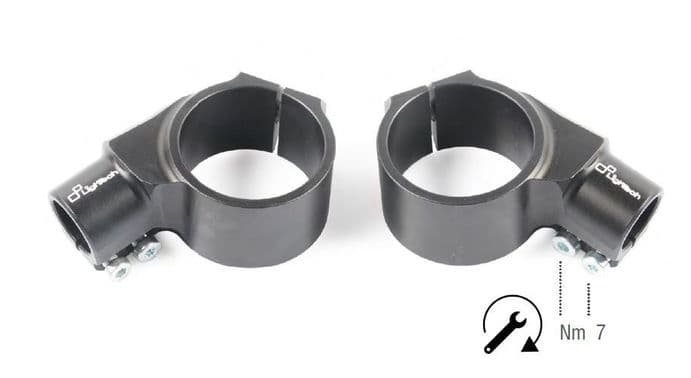LighTech Clip-On's / Handlebar Holders with +20mm Offset / 0mm Height