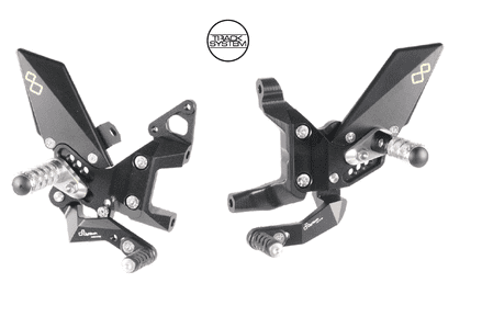 LighTech Ducati Panigale 899/1199/959/1299 12-17 / V2 2020> Adjustable Rearsets