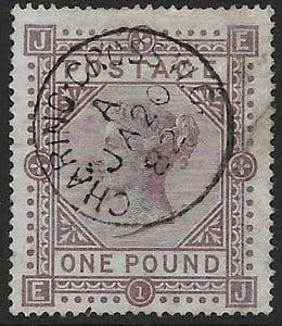 1878 SG129  Queen Victoria £1 Brown-Lilac Superb Looking with Repaired Tear to Right