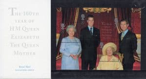 2000 Queen Mothers 100th Birthday Presentation Pack Nr MO4