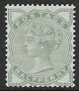 SG164 ½d Green 1880-81 MOUNTED Mint (Queen Victoria Surface Printed Stamps)
