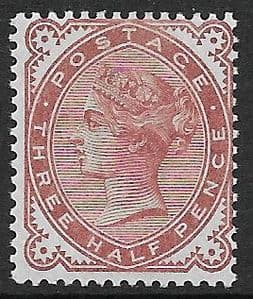 SG167 1½d Venetian Brown 1880-81 MOUNTED Mint (Queen Victoria Surface Printed Stamps)
