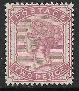 SG168 2d Rose 1880-81 MOUNTED Mint (Queen Victoria Surface Printed Stamps)