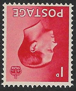 SG458Wi 1d Scarlet Inverted Watermark Unmounted Mint (1936 Edward VIII Stamps)
