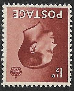 SG459Wi  1½d Brown  Inverted Watermark Unmounted Mint (1936 Edward VIII Stamps)