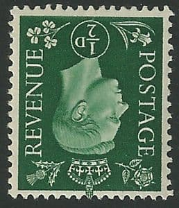 SG462Wi ½d Green Inverted Watermark Unmounted Mint (George VI 1937 Definitive Stamps)