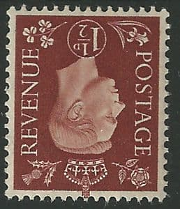 SG464Wi 1½d Red Brown Inverted Watermark Unmounted Mint (George VI 1937 Definitive Stamps)