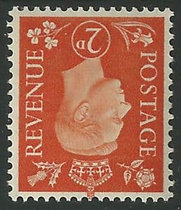 SG465Wi 2d Orange Inverted Watermark Unmounted Mint (George VI 1937 Definitive Stamps)