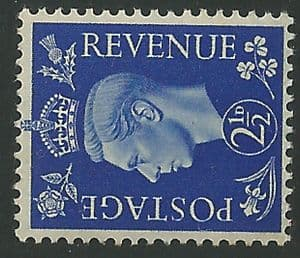 SG466a 2½d Ultramarine Sideways Watermark Unmounted Mint (George VI 1937 Definitive Stamps)