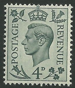 SG468 4d Grey Green Unmounted Mint (George VI 1937 Definitive Stamps)