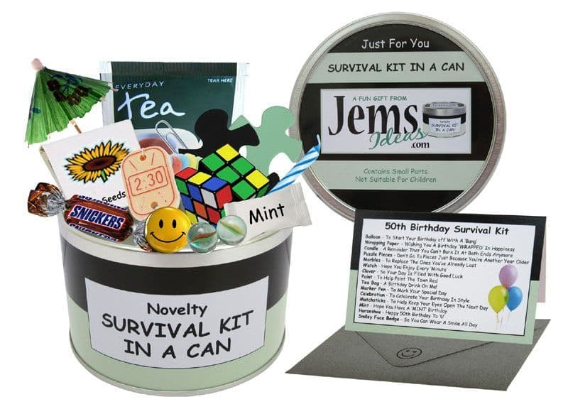50th Birthday Survival Kit In A Can Gifts