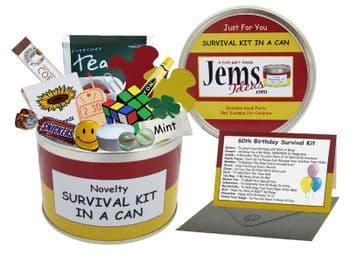 60th Birthday Survival Kit In A Can