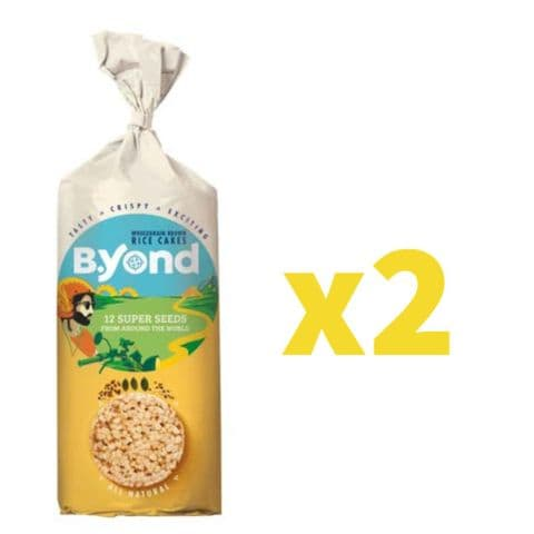 B.Yond Rice Cakes - 12 Super Seeds From Around the World, 2 Pack