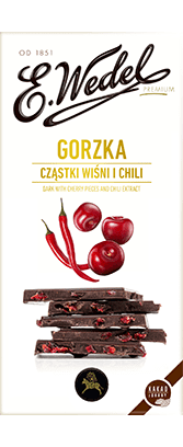 Gorzka Dark Choc with Cherry & Chilli Filling 100g