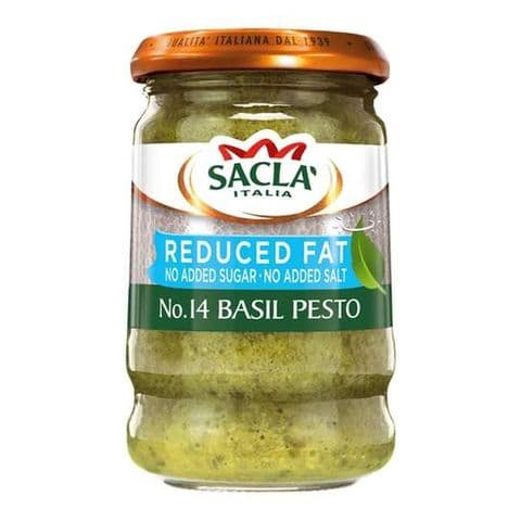 Sacla' Reduced Fat Basil Pesto 190g