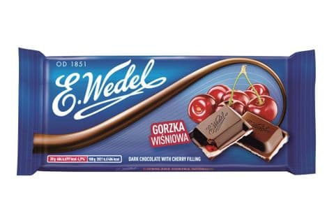 Wedel Dark Chocolate Cherry 100g
