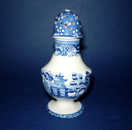 An Unusual Perfect Willow Pepper Pot c1840