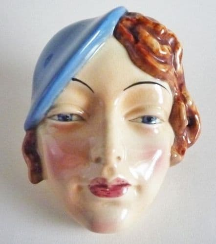 Beswick 'Girl with Blue Beret' Wall Mask Model No.197 c1935