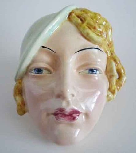 Beswick 'Girl with Green Beret' Wall Mask Model No.197 c1934