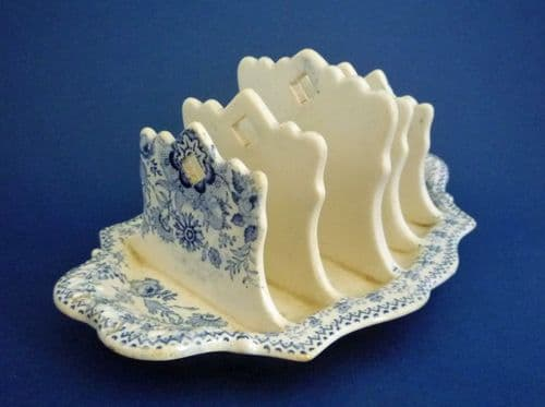 Blue and White Gothic Revival Toast Rack c1820