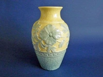 Burmantofts Faience Art Pottery 'Poppy' Vase c1890