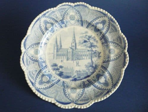 Carey's Saxon Stone China 'Litchfield Cathedral' Dinner Plate c1830