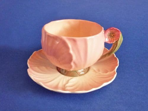 Carlton Ware Pink Buttercup Cup and Saucer c1938