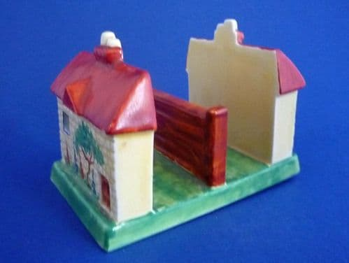 Carlton Ware Thatched Cottage Toast Rack c1930