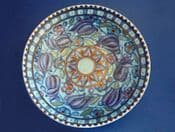 Charlotte Rhead Crown Ducal 'Blue Tulips' Bowl c1936 - Pattern 4794