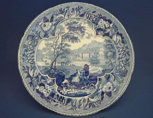 Chetham and Robinson 'Parkland Scenery' Plate c1825